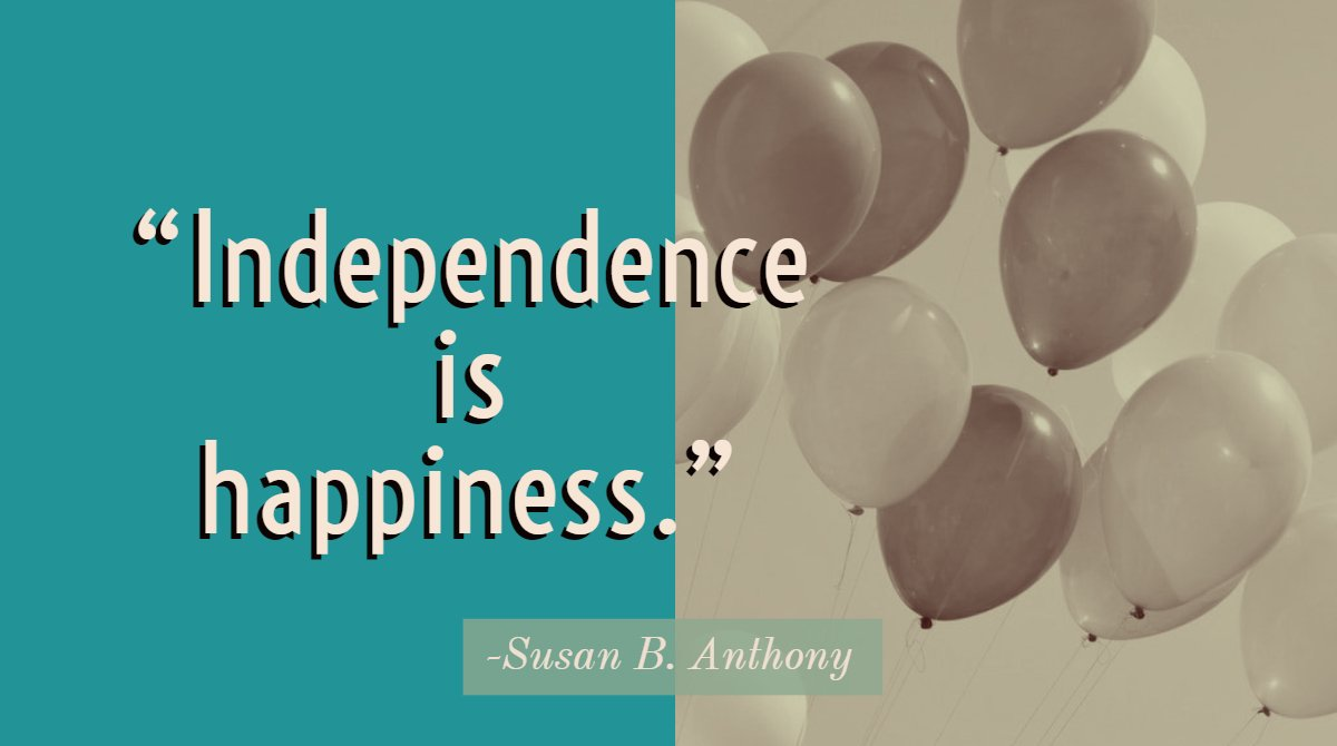 Certificatestreet On Twitter Independence Is Happiness Susan