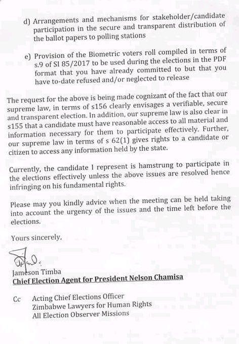 Bulawayo24 news on twitter letter from chamisa requesting urgent 1008 am 5 jul 2018 thecheapjerseys Images