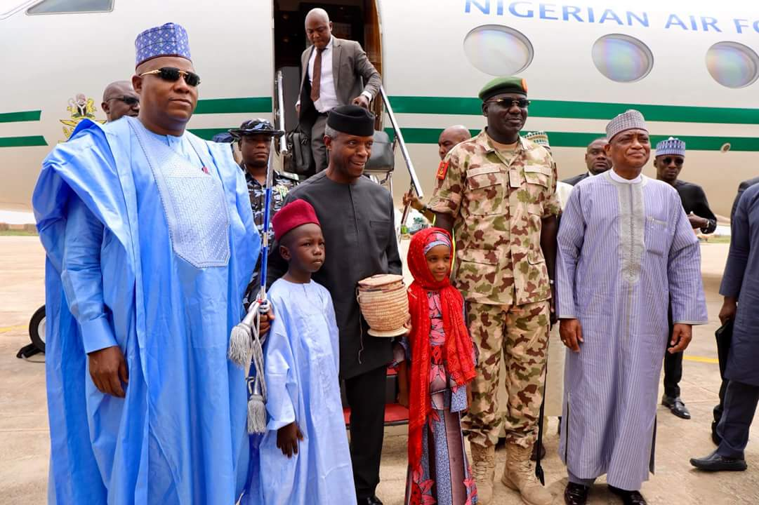 Vice president, Osinbajo arrives Boron state to mark this year's Army Day Celebration
