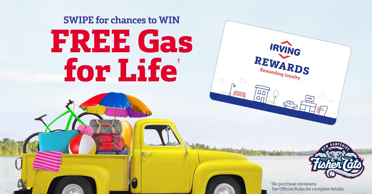 swipe your irving rewards card for chances to win free gas for life and fuel discount prizes to get started playing visit httpirvingrewardscardcom - Irving Rewards Card