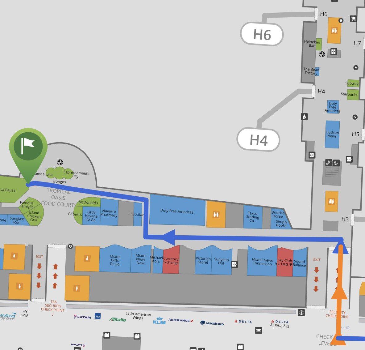 miami airport map delta