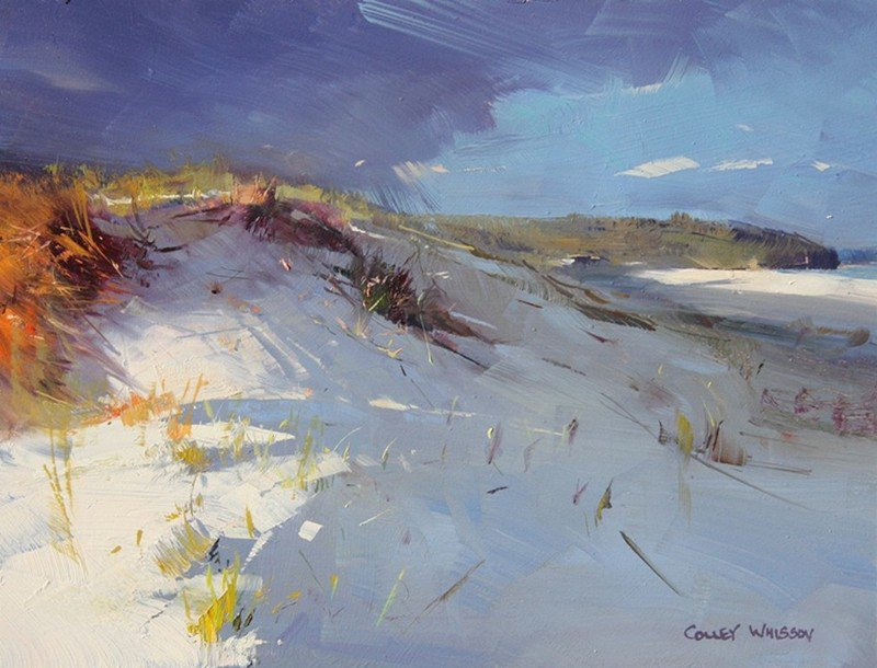 A masterclass in brush economy with the deceptively simple landscapes of Colley Whisson. #art #inspiration