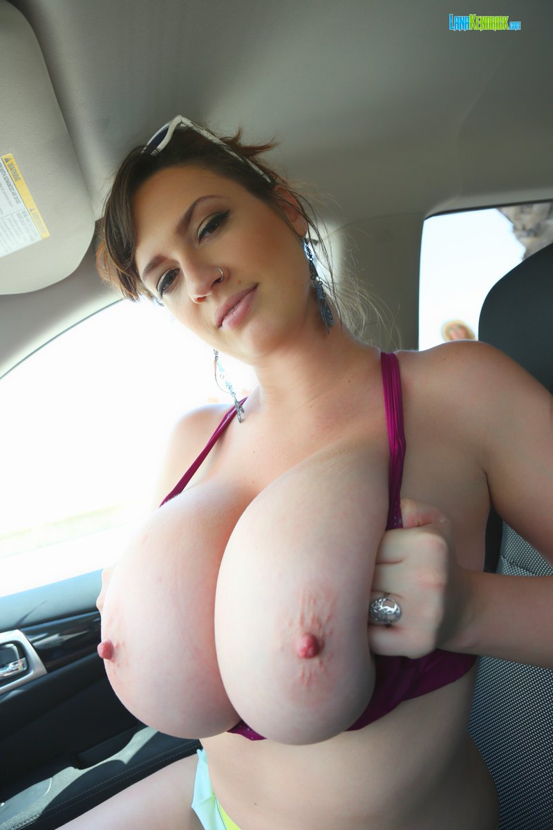 Boobs Out In The Car