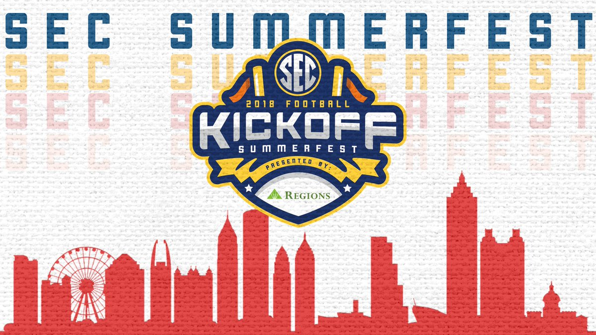 1⃣0⃣ days away from the Inaugural #SECSummerfest, presented by Regions Bank! This event is free and open to the public. More info » bit.ly/2u4U2mH