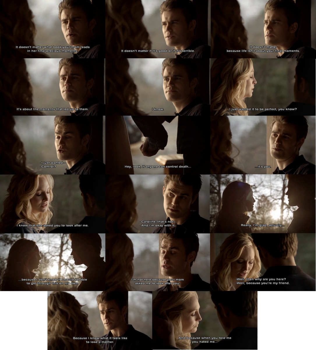 #Caroline: I think we both know I never really hated you. (They kiss) One of us should probably say something. #Stefan: Go for it. Caroline: Not that. #Steroline #VampireDiaries #TVD #TheVampireDiaries #StefanAndCaroline #CarolineAndStefanpic.twitter.com/fgZKPSl8zi
