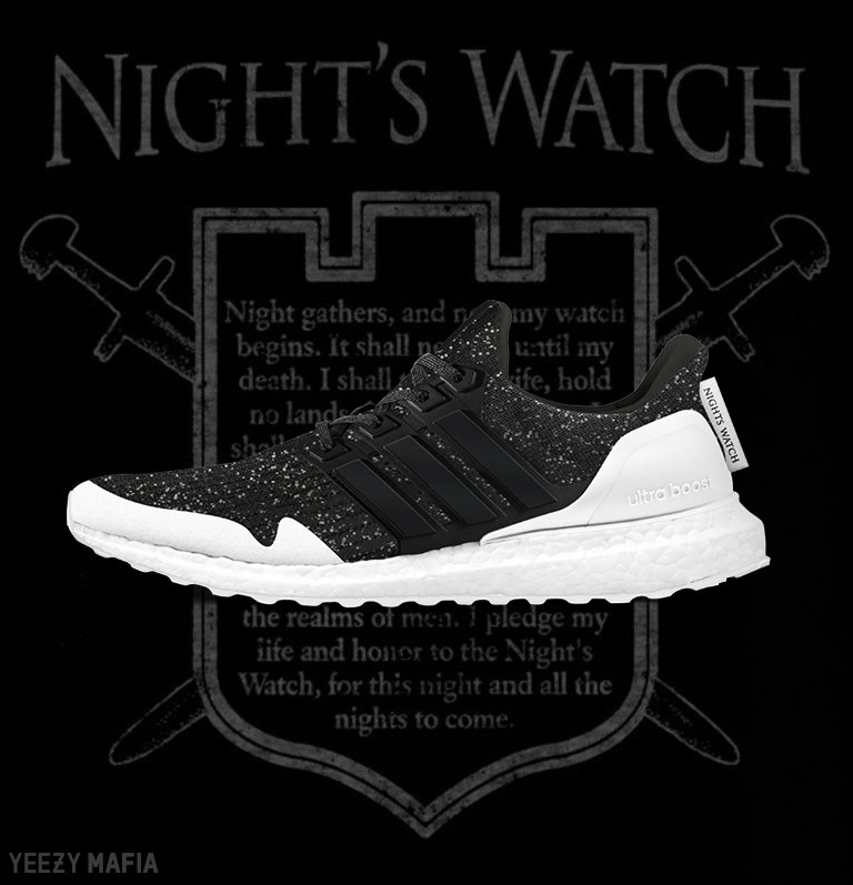 7e19a423bb9 Night s Watch   White Walkers Game of Thrones inspired Ultra Boosts  releasing in 2019.pic.twitter.com OWPSbeWhgM
