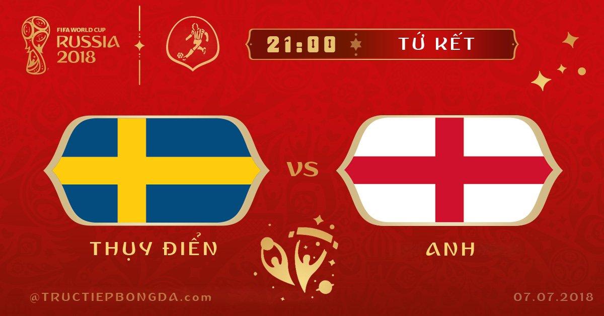 Thụy Điển vs Anh