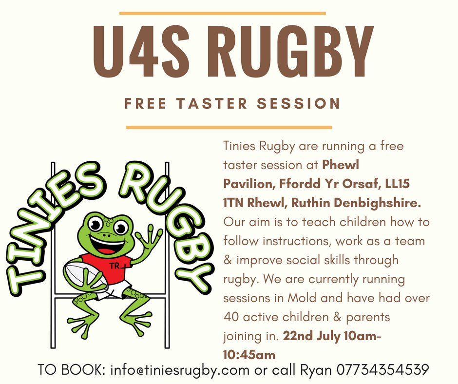 Mold Rugby Club On Twitter Tinies Rugby Will Running A Free