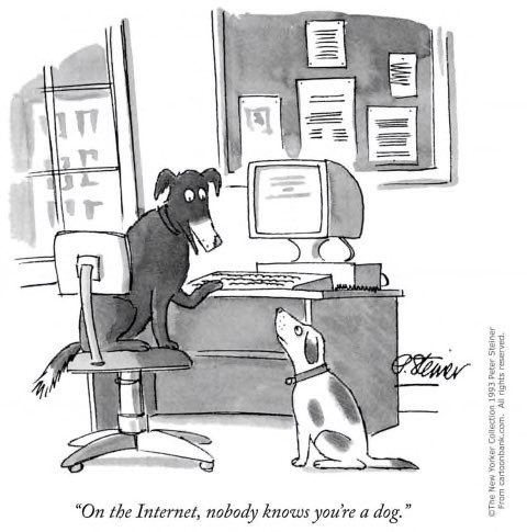 Internet is getting older. This classic New Yorker cartoon by @plsteiner turned *25* today.
