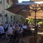 We're enjoying 'Loades of Music' this afternoon on the patio. Thankfully we have shade on a hot day ☀️#forbetterretirementliving #summer2018 #summerfun