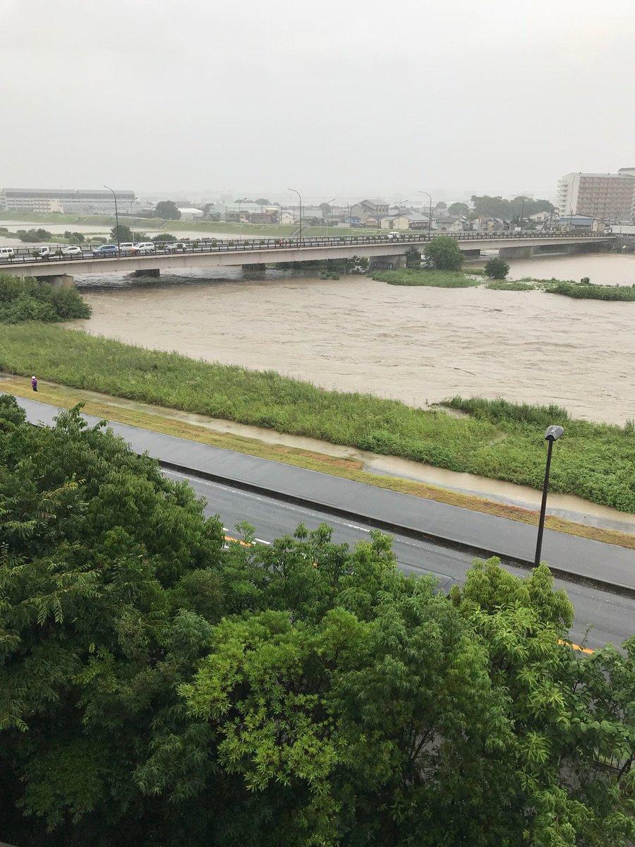 猪名川、川西市多田院で氾濫危険...