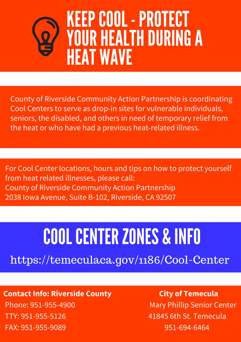 City of temecula on twitter stay safe temecula for more info on for more info on how to keep cool and to find local cool centers around riverside county follow the link httpstbyqhlgyo8b httpstkecbezdknb solutioingenieria Gallery