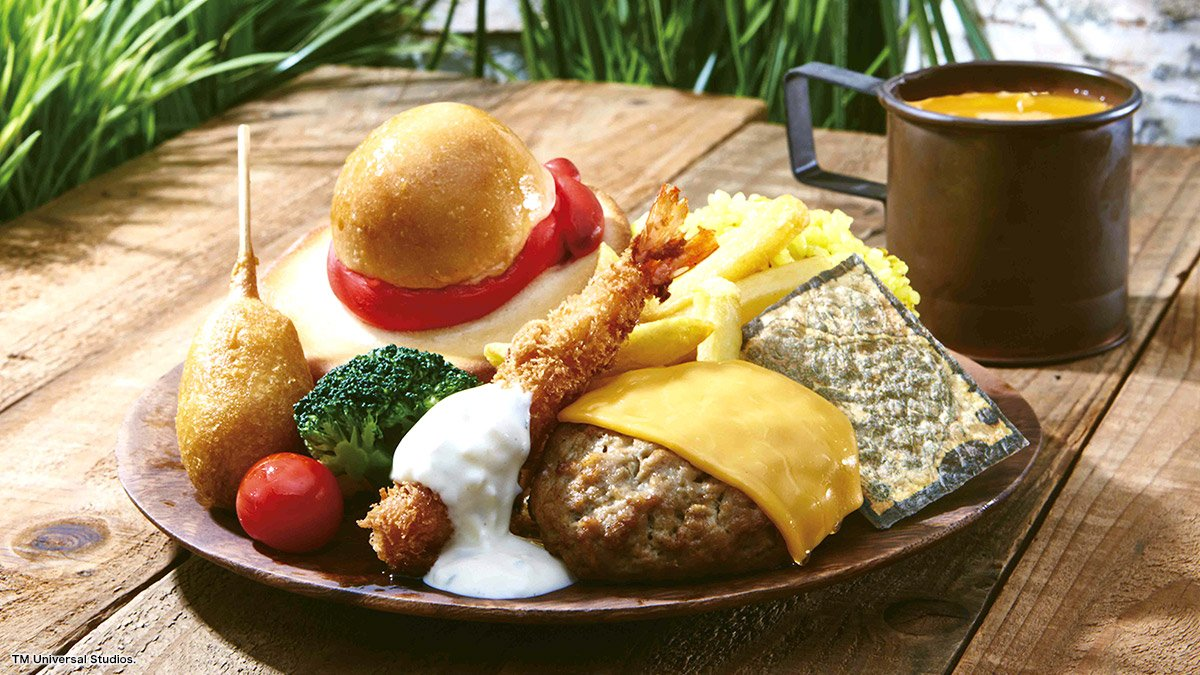 / うほー!んまほー! \ ボリューム満点、ワイルドな海賊飯に食らいつけ! 麦わらの一味の宴レストランにはルフィの肉プレートも登場!#USJ 詳細はこちら⇒