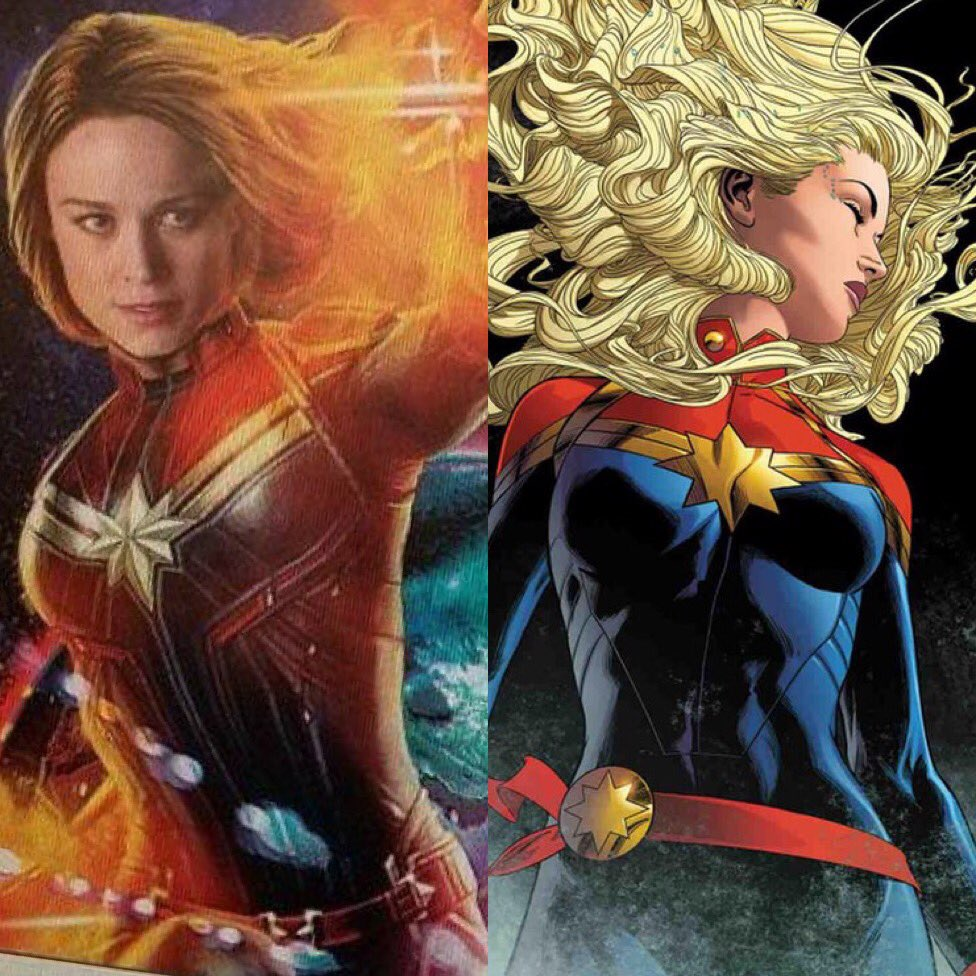 Captain Marvel News On Twitter Seems Like Captainmarvel Is Indeed Growing Back Her Longer Hair Later This Year In Comics Matching Brielarson S Gorgeous Look For The Upcoming Movie Here Comes A