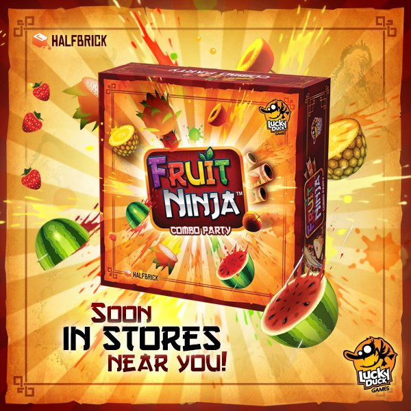 The Fruit Ninja 'Combo Party' board game will available from the 6th July at stores in France, Belgium, Germany, Poland, Spain, UK, Netherlands and Norway and from the 5th August in the US, Canada and China. Happy Slicing! https://t.co/8BHWKNr4sm