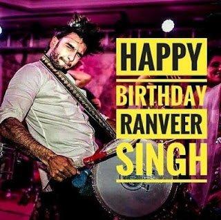Happy Birthday Ranveer Singh 6th July2018
