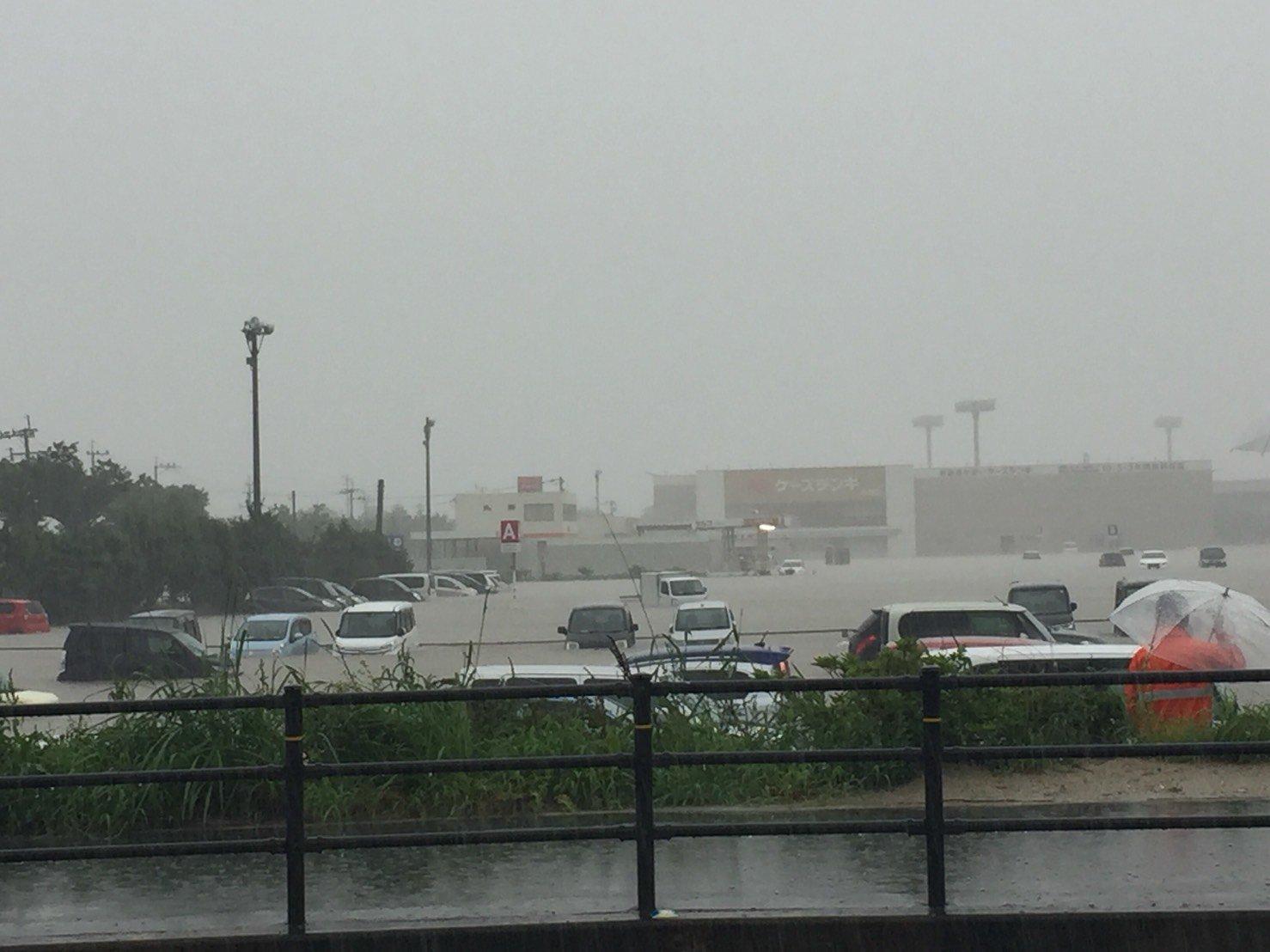 画像,小郡イオン浸水しとるー https://t.co/RJbjDMMlIb。