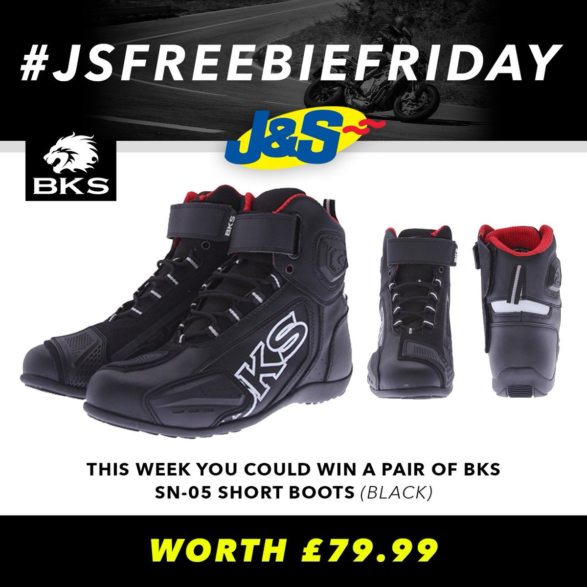 #JSFREEBIEFRIDAY Retweet this and follow us for a chance to win a pair of brand new BKS SN-05 Short Boots worth £79.99. Ends Tues July 10th. You can also enter by signing up to our newsletter here:  Happy Friday everyone!