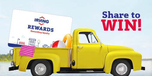 when you swipe your irving rewards card already a winner share your fuel savings using irvingfun for a chance to win a 50 irving oil gift card - Irving Rewards Card