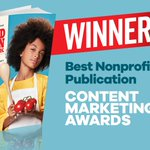 Our bestselling #KidFoodNation cookbook is now an award-winning publication! We are proud winners of the Content Marketing Award for Best Nonprofit Publication (and finalist for Best New Print Publication – Design). @CMIContent