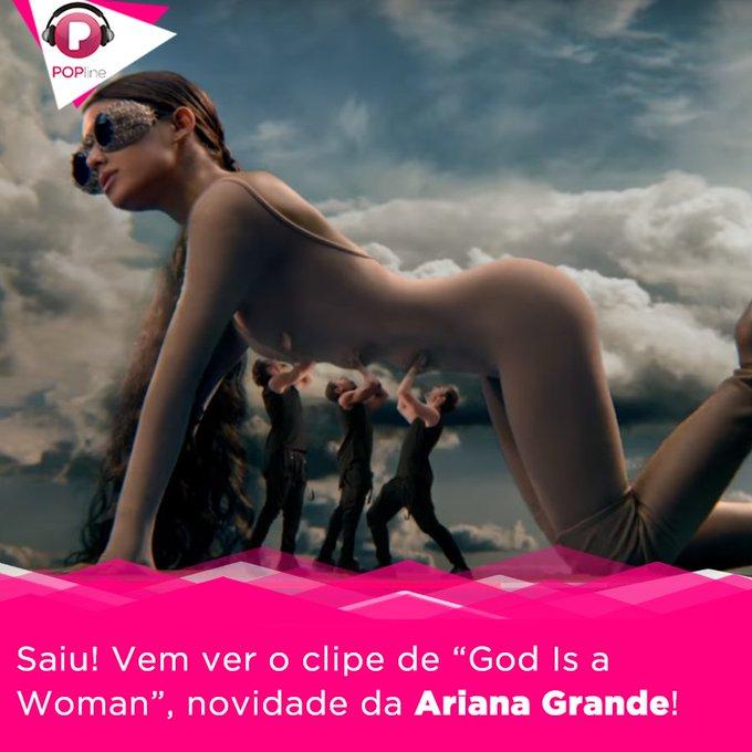 #GodIsAWomanVideo QUE CLIPÃO! @ArianaGrande acaba de lançar God Is a Woman. Assista: Photo
