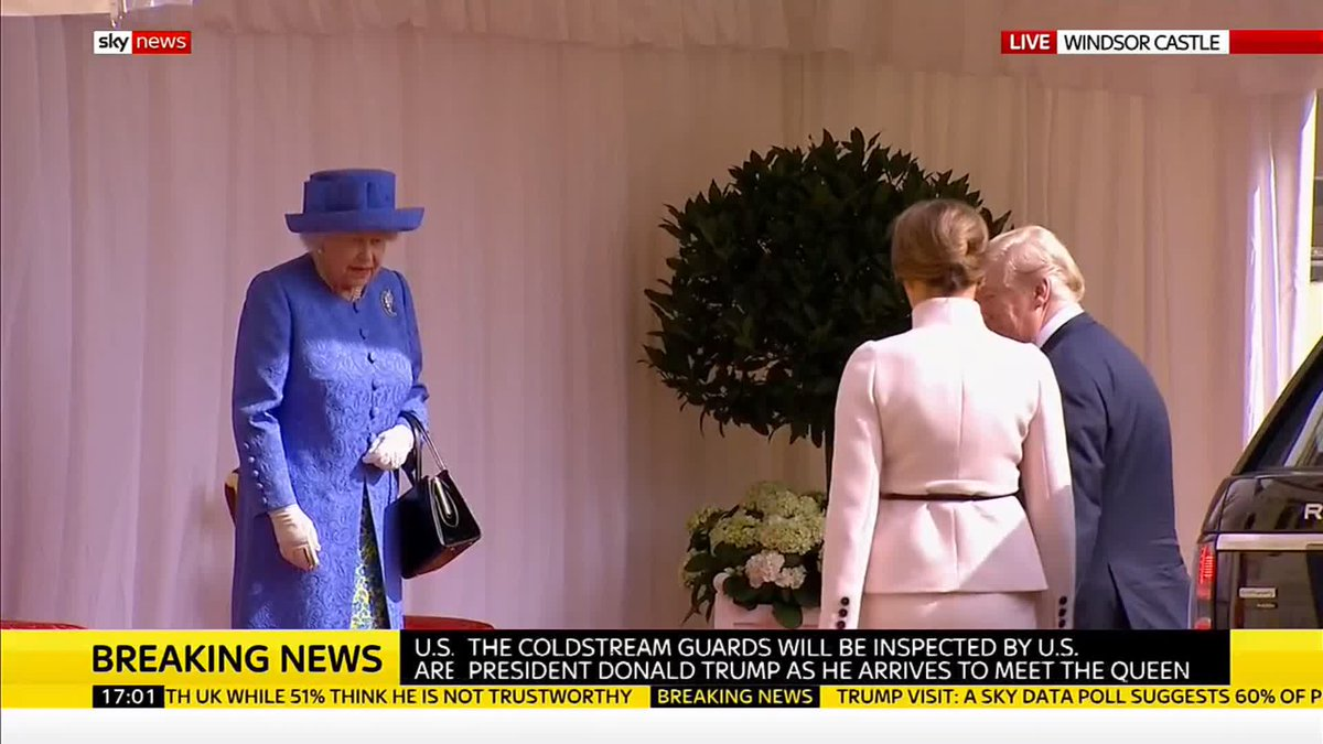 President Trump has met the Queen at Windsor Castle Follow our live blog here: trib.al/kY7B84w