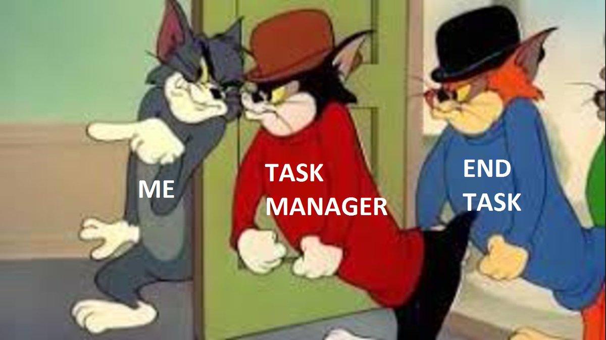 when a program is not responding