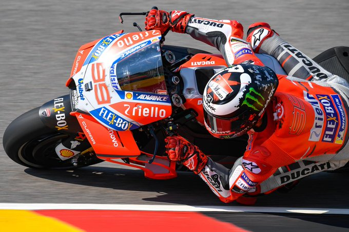 """A Ducati day in Honda territory: """"Victory is not impossible"""" Friday at the #GermanGP saw @lorenzo99 go fastest ahead of @Petrux9, with more Borgo Panigale machinery high on the timesheets #MotoGP 