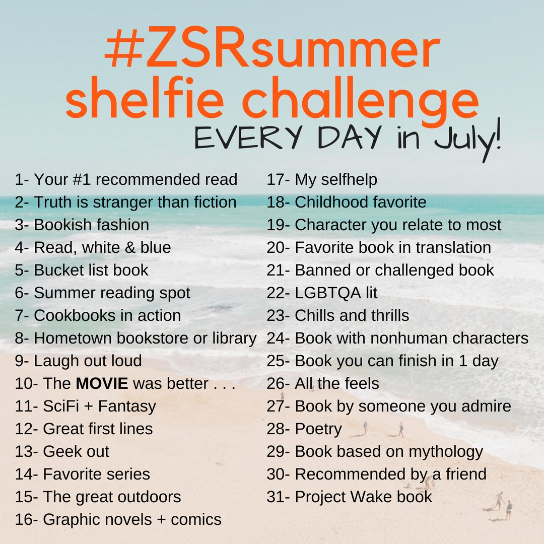 Have you participated in the #ZSRsummer shelfie challenge? It's not too late- share your photos on Instagram and tag us! #myzsr