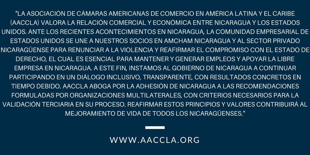 test Twitter Media - AACCLA se une a Nicaragua! #SOSNICARAGUA @AmChamNicaragua https://t.co/gDlqQlyd3L