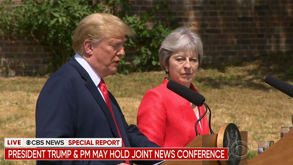 WATCH LIVE: President Trump and UK Prime Minister May hold a joint news conference -- cbsloc.al/2MHb7LR