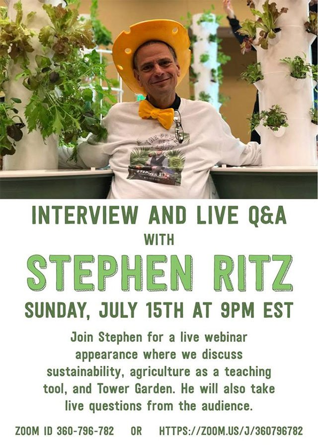 Join Stephen Ritz of Emmy-Award Winning @greenBXmachine for a LIVE webinar on Sunday July 15! #urbanag #sustainability https://t.co/ZZNFD5iip2