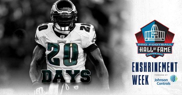 20 days to go until Enshrinement Week Powered by @johnsoncontrols! #PFHOF18