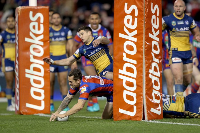 Nothing better than waking up after a win. Knights triumph over the Eels in a nail biting win: #OurTownOurTeam #NRLKnightsEels Photo