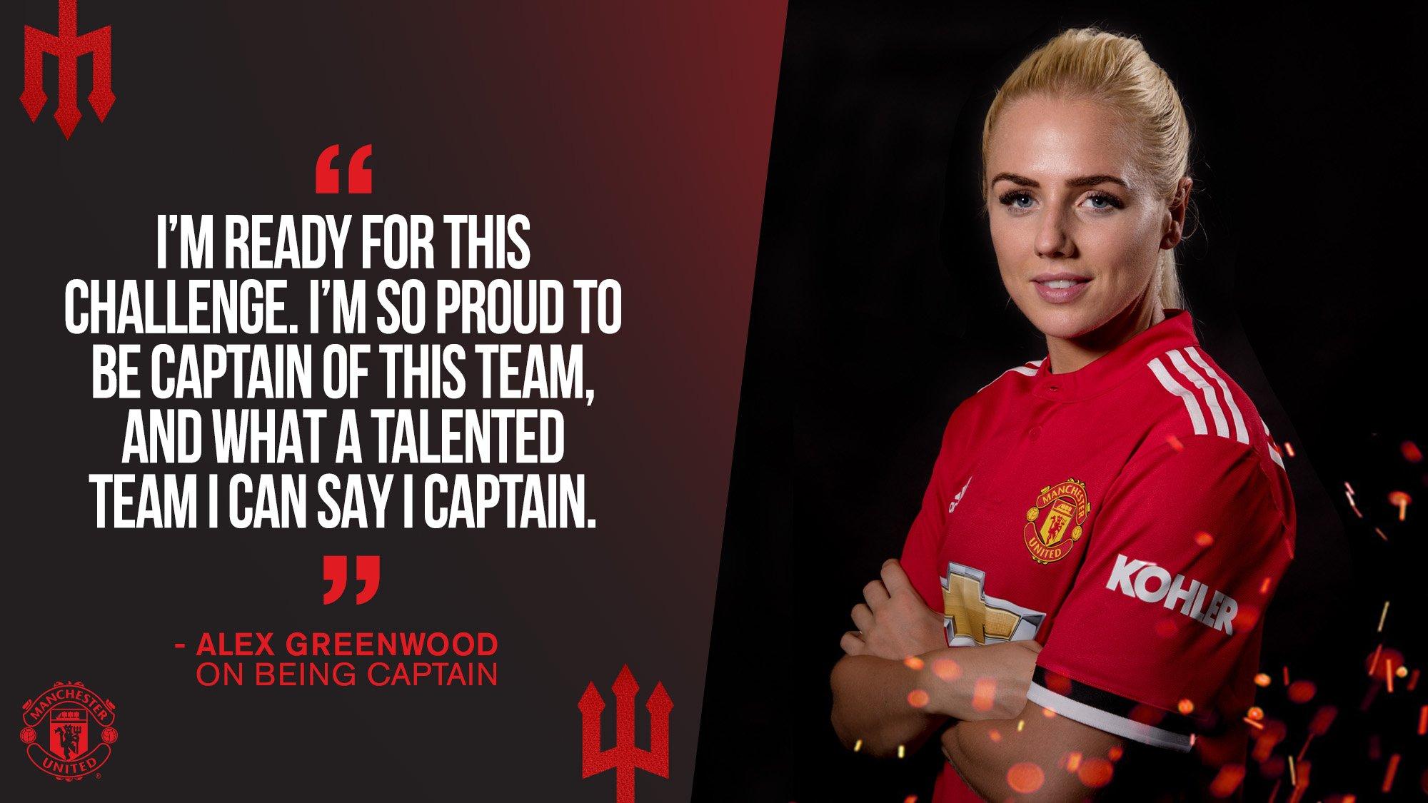 #MUWomen captain @AlexGreenwood can't wait to get going. �� #MUFC https://t.co/6ijeB1RT2N