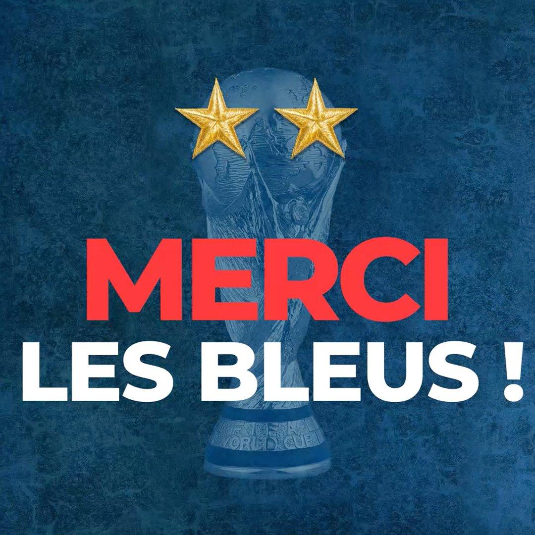 CHAMPIONS DU MOOOOOONDE !!! 🌟🌟 L'Équipe de France de Football accroche une deuxième étoile à son maillot !  #FiersDetreBleus #ChampionsDuMonde