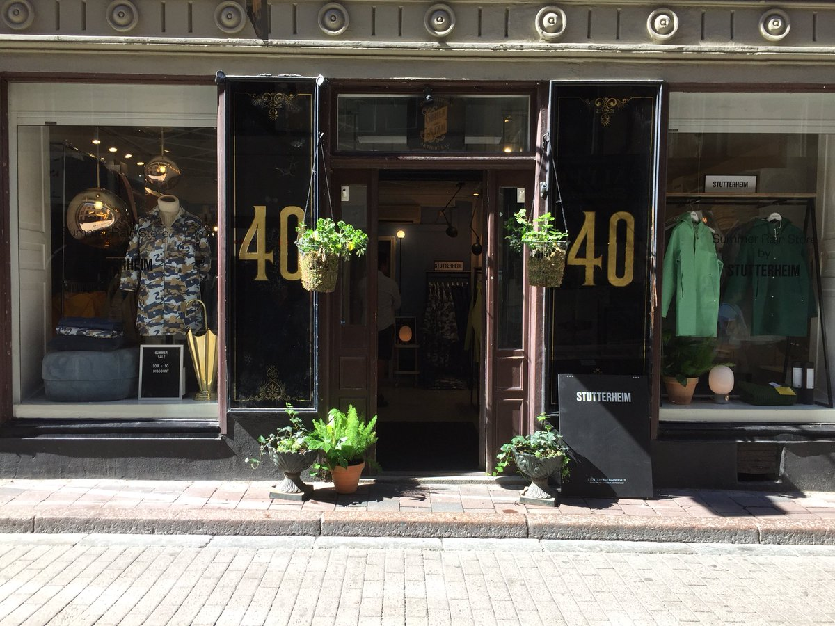 Opening today: Summer Rain Store by #Stutterheim. Welcome to Västerlånggatan 40, Gamla Stan, Stockholm