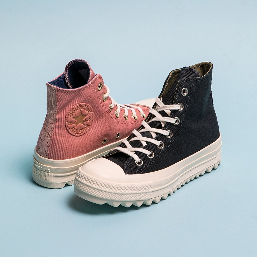 Give yourself a lift with the Women s  converse Chuck Taylor All Star Lift  Ripple Hi in Black Egret and Pink Egret - http   bit.ly 2N9ptE1 Follow ... f19a348e4b