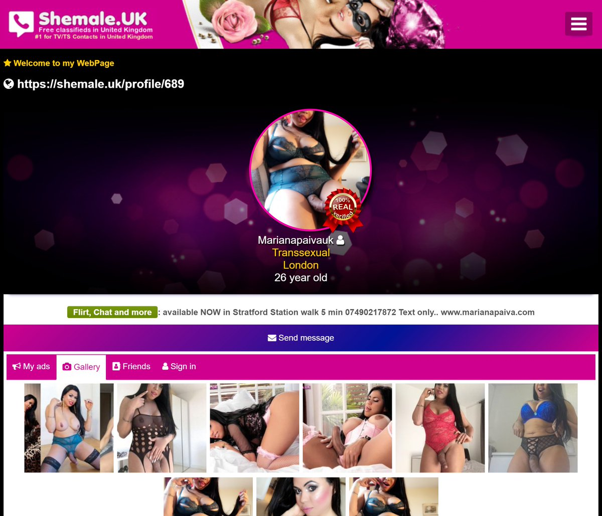 Shemale classified ads london was
