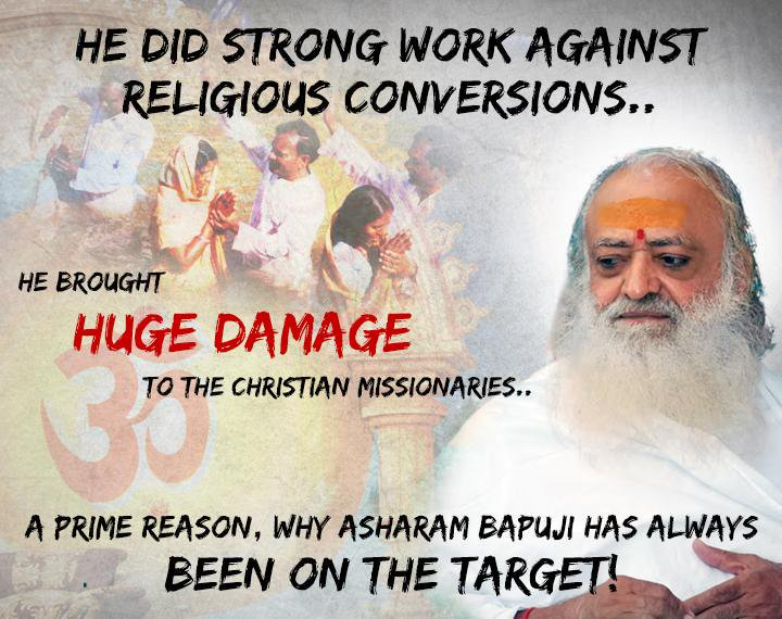 #Bapuji don't need anyone 2 defend him..  But lemmie tell u that ds #DalalMedia Gets huge amount from d  agents{Missionaries} of MADAM TERESA  4 defaming Hindu #SaintForHumanity & to propagate #SICKularConversions  He z in Jail 4 opposing #ForcefulConversions! #BigSmashOnHinduism<br>http://pic.twitter.com/hvmYpqgk3d