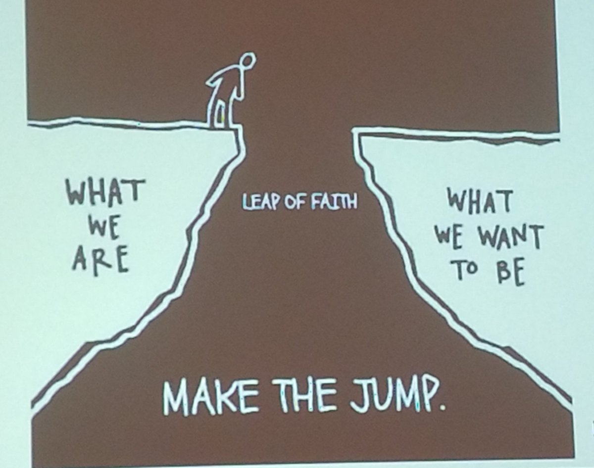 When you push yourself out of your comfort zone that&#39;s when good things happen.   Do you want to be comfortable or do you want to grow?  Successful people take 20x the risk than unsuccessful people.   You have to be a risk taker to be a difference maker.   @DavidGeurin #NPC18 <br>http://pic.twitter.com/yeCqI7M34Y