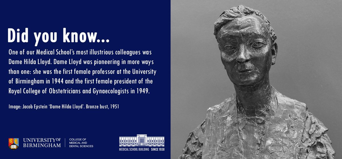 #HaveYouMet Dame Hilda Lloyd? We have a blue plaque on our Medical School dedicated to this inspiring woman. Dame Lloyd qualified from our Medical School in 1916 and went on to form midwife 'flying squads&#39;. She was also @unibirmingham&#39;s first female professor @birminghamalum<br>http://pic.twitter.com/XKgkt5Itni
