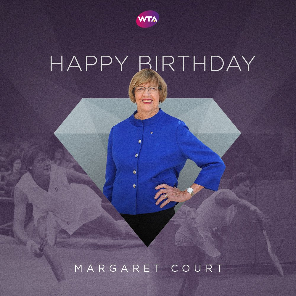 Happy birthday to 24 time Slam champion and WTA Legend, Margaret Court! https://t.co/ySxsuc3GbS