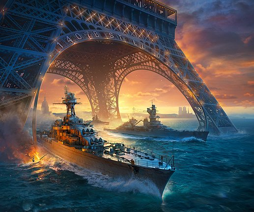 Join up in celebration with the people of France and show your revolutionary spirit! This week, you can participate in a special mission that can be accessed through the Premium shop: using the following code: 1407B1ST7LL8D9Y #BastilleDay #WorldofWarships Photo