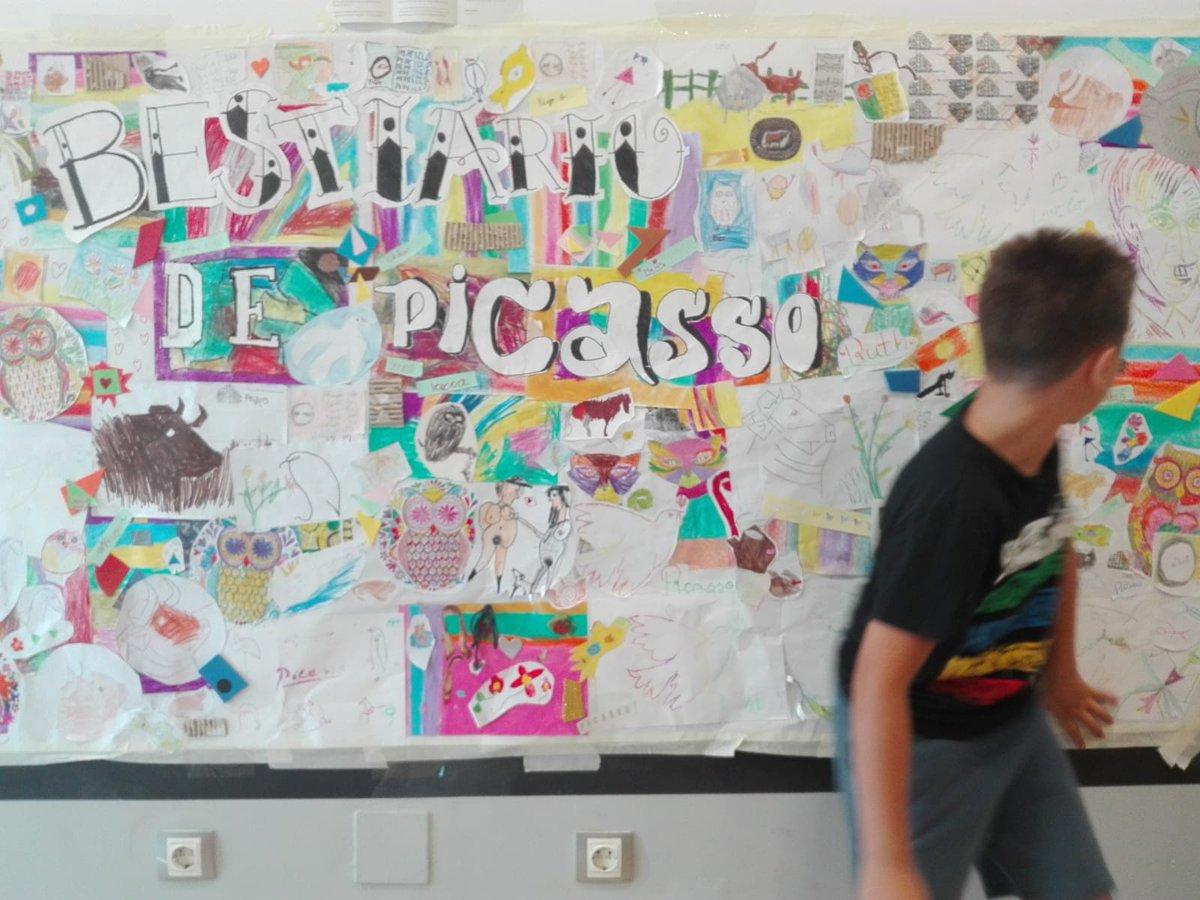 Casa Natal De Picasso On Twitter Asi Ha Quedado El Mural En El Que