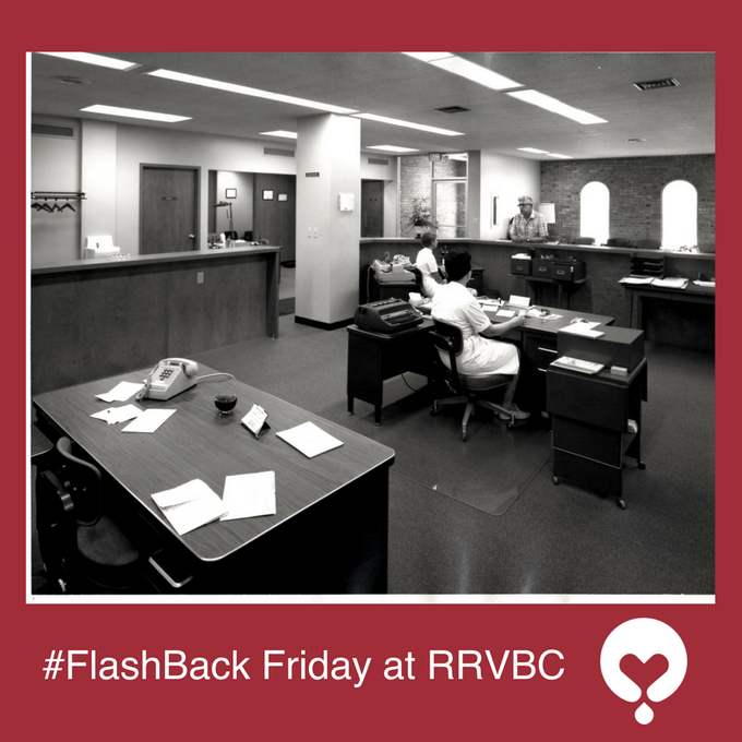 #FlashbackFriday at Rock River Valley Blood Center. Not a computer in sight! Photo