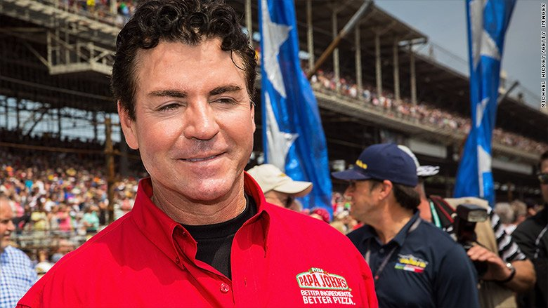 The Papa John&#39;s pizza chain is removing founder John Schnatter&#39;s face from its ads after his use of the N-word during a conference call  https:// cnnmon.ie/2Jk56ls  &nbsp;  <br>http://pic.twitter.com/pjOtxOw3XB