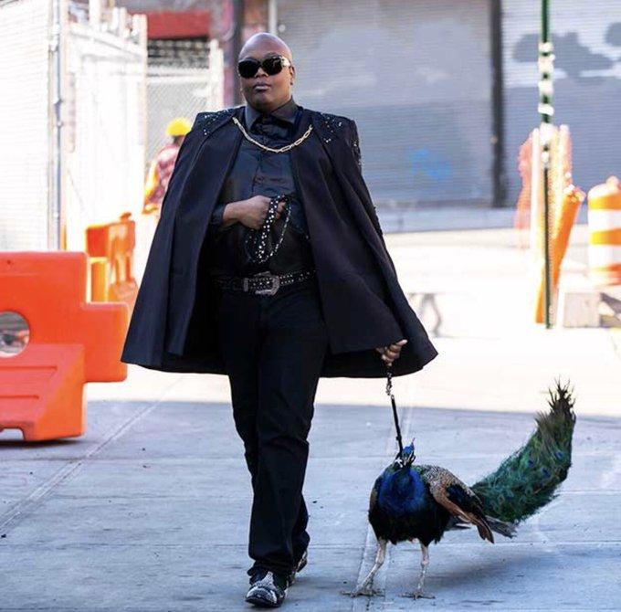 O look ideal pra hoje eh um pretinho básico para passear com seu pavão na rua #Sexta13Fantasy Foto