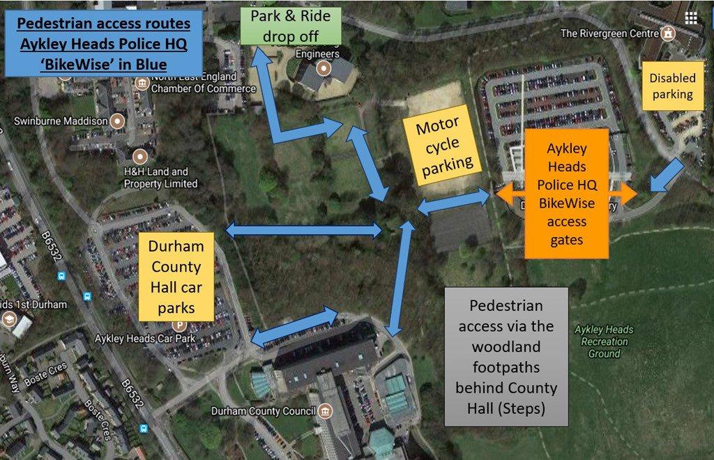 Durham Bikewise On Twitter Parking Arrangements For Bikewise 2018
