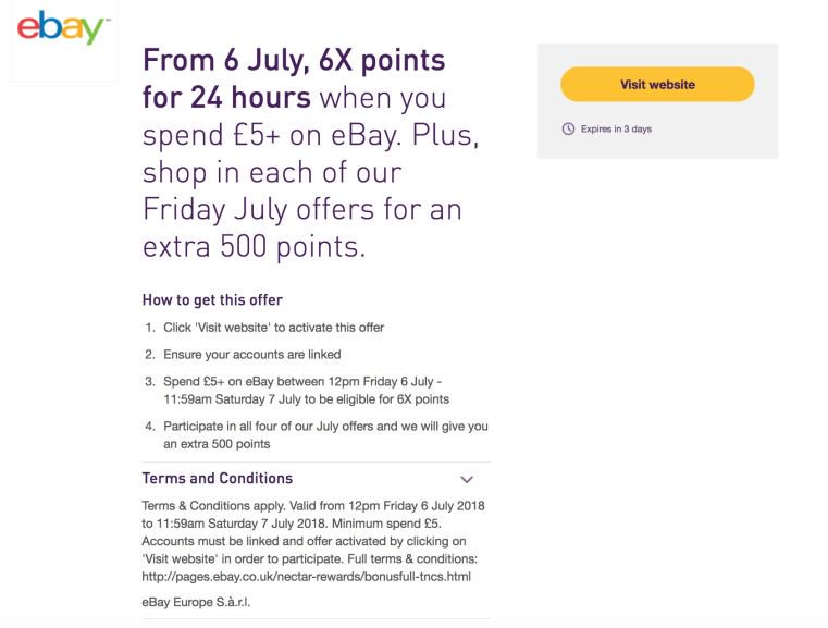 Hotukdeals on twitter heads up for you nectar card holders 6x 505 am 6 jul 2018 reheart Images